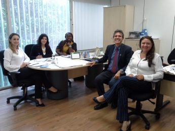 Da Esquerda pra direita: ( Janesca Roman/MCTIC, Zeli Rocha/ABC, Profa. Artemisa/UNILAB, Prof. Max/UNILAB, Sônia da Costa/MCTIC)
