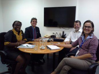 Da esquerda pra direita: Profa. Artemisa, Prof. Max, Nelson Simões/RNP, Pilar Almeida/RNP.