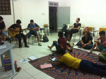 Momento de aprendizagem cocriativa e colaborativa dos alunos da Faculdade de Educação, Ciências e Letras do Sertão Central