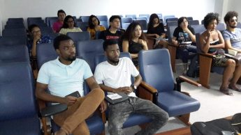 Primeira aula presencial do Curso de Cultura e Língua Guineense Crioula.